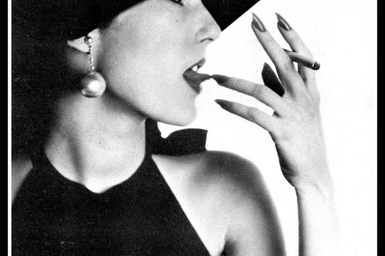 Irving Penn, Girl with Tobacco on Tongue (Mary Jane Russell), New York, 1951